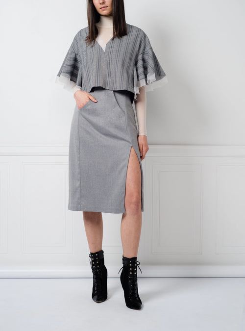 SALE | Kimiko Top in Grey Plaid