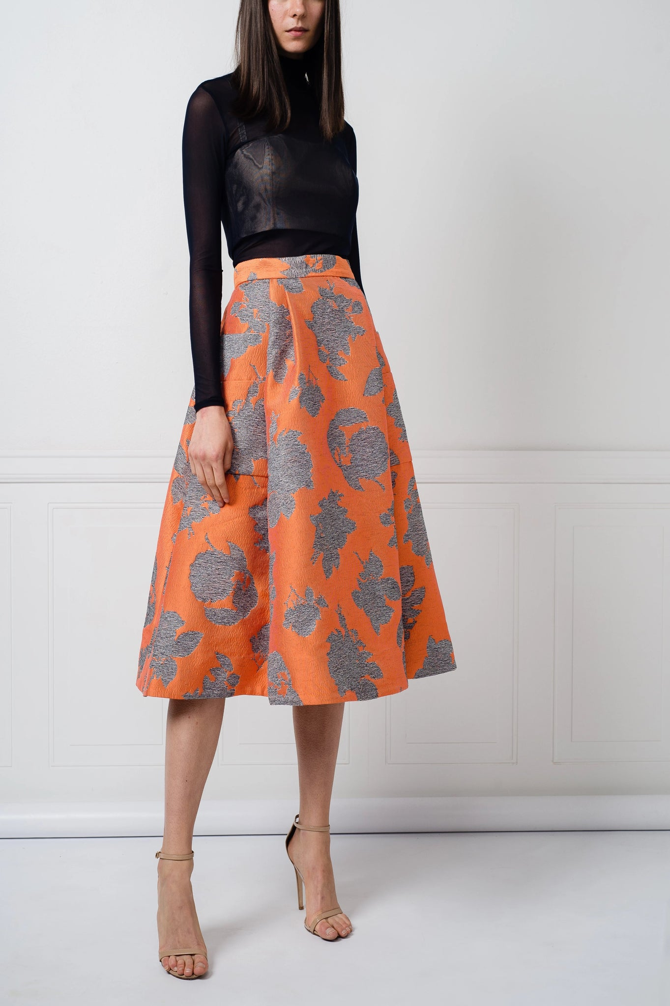SALE | Cleo Skirt in Orange Floral