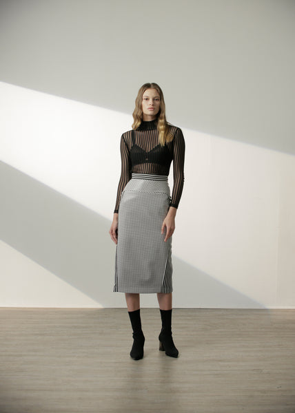 Shayda Skirt in Black Gingham