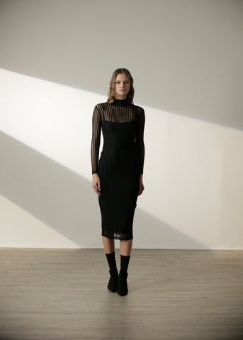 Stella Long Dress in Black