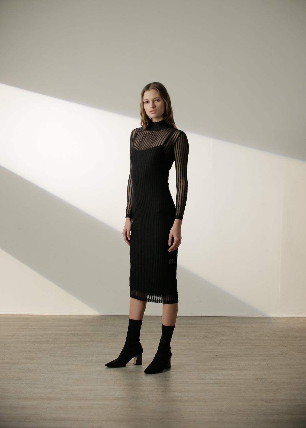 SALE | Margaux Dress in Black Stripe