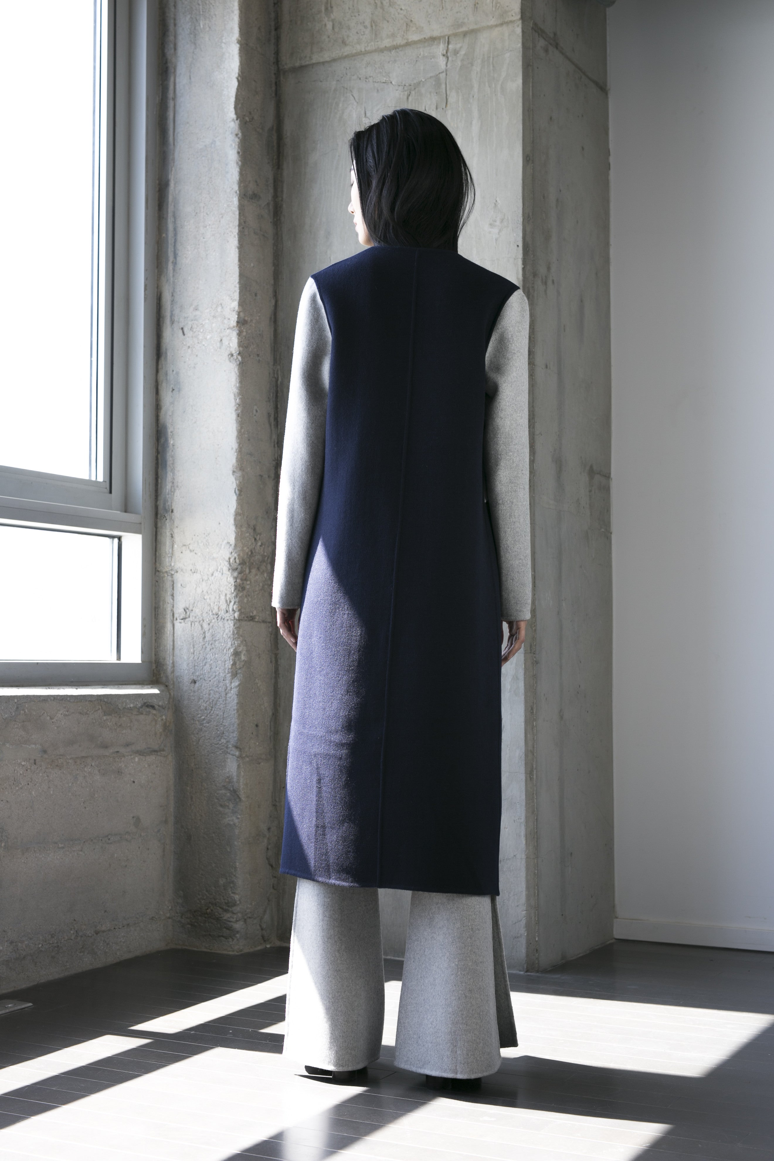 Cuttrell Coat in Navy
