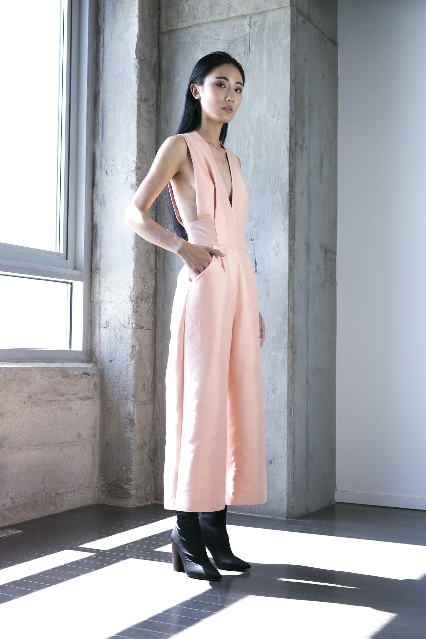 Zain Jumpsuit in Peach