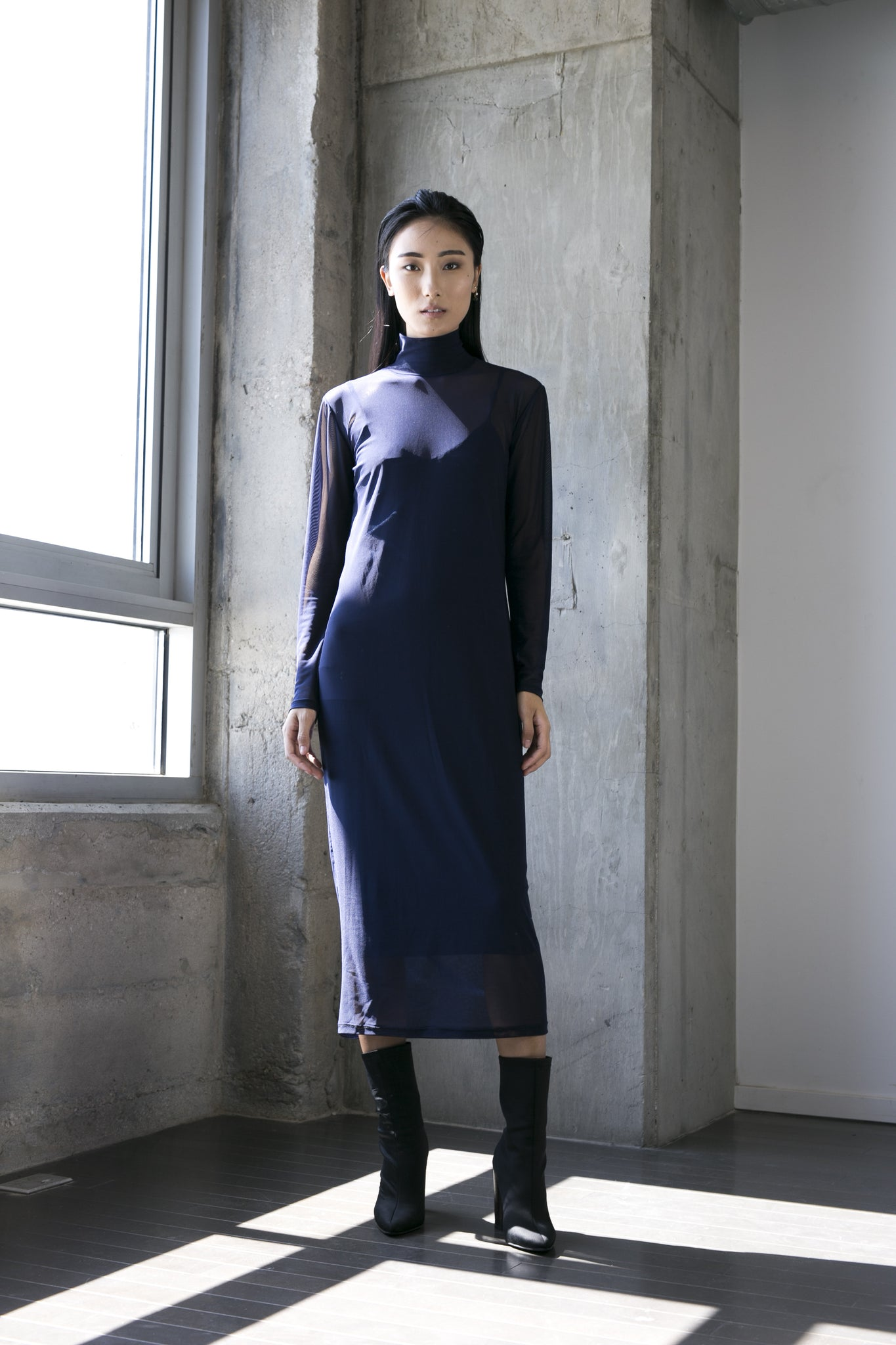 Margaux Dress in Navy