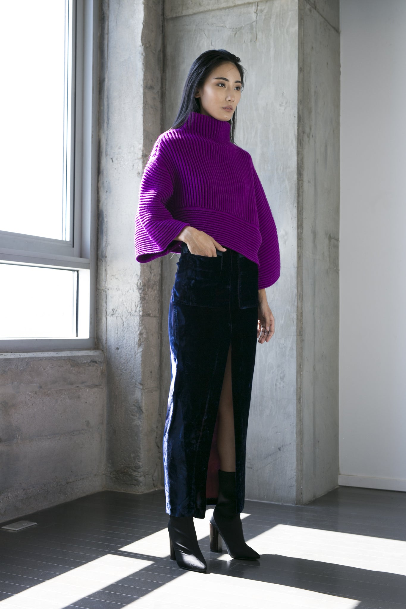 Nicole Sweater in Fuchsia