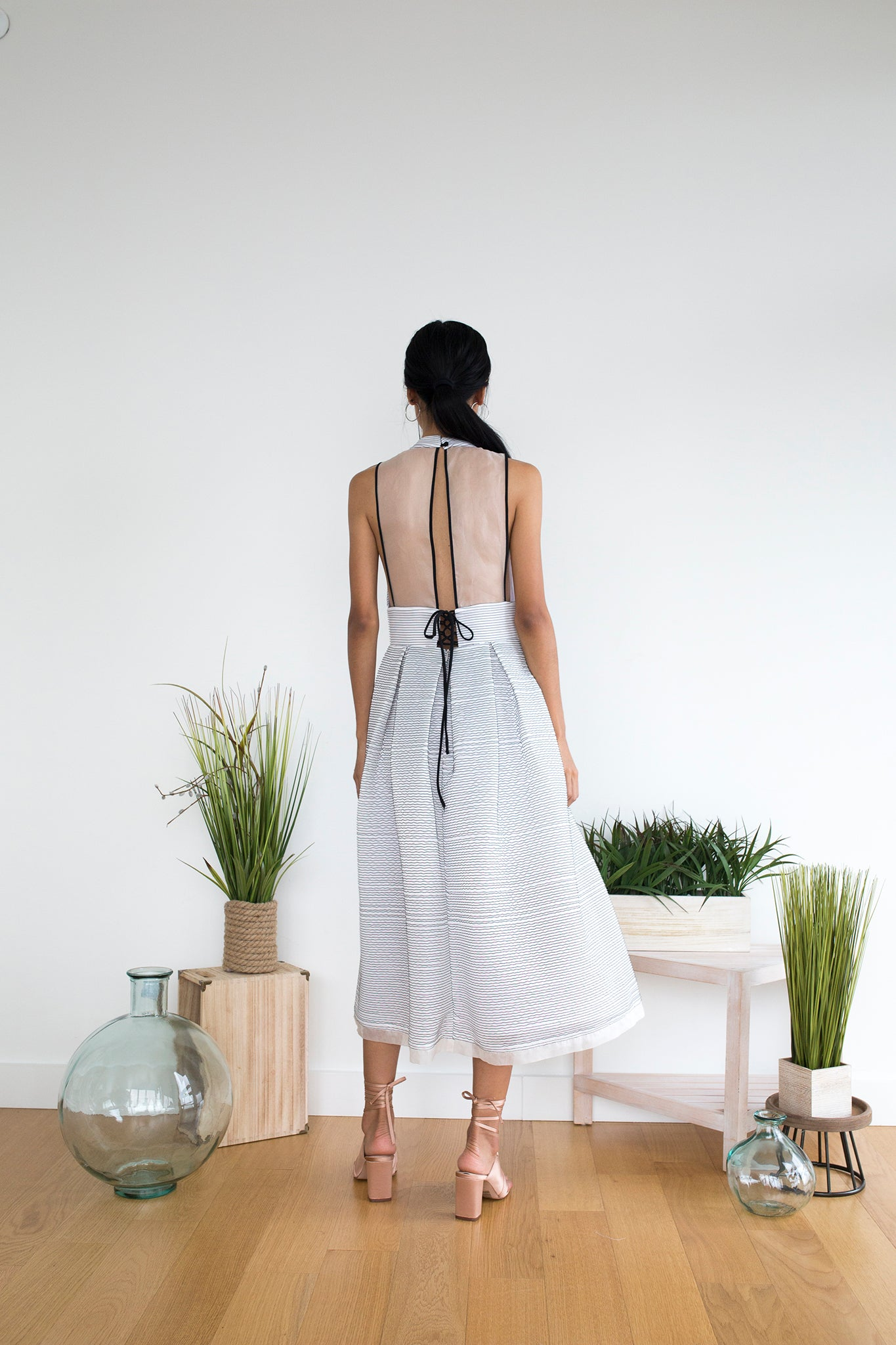 Alkurdi Dress in Lines