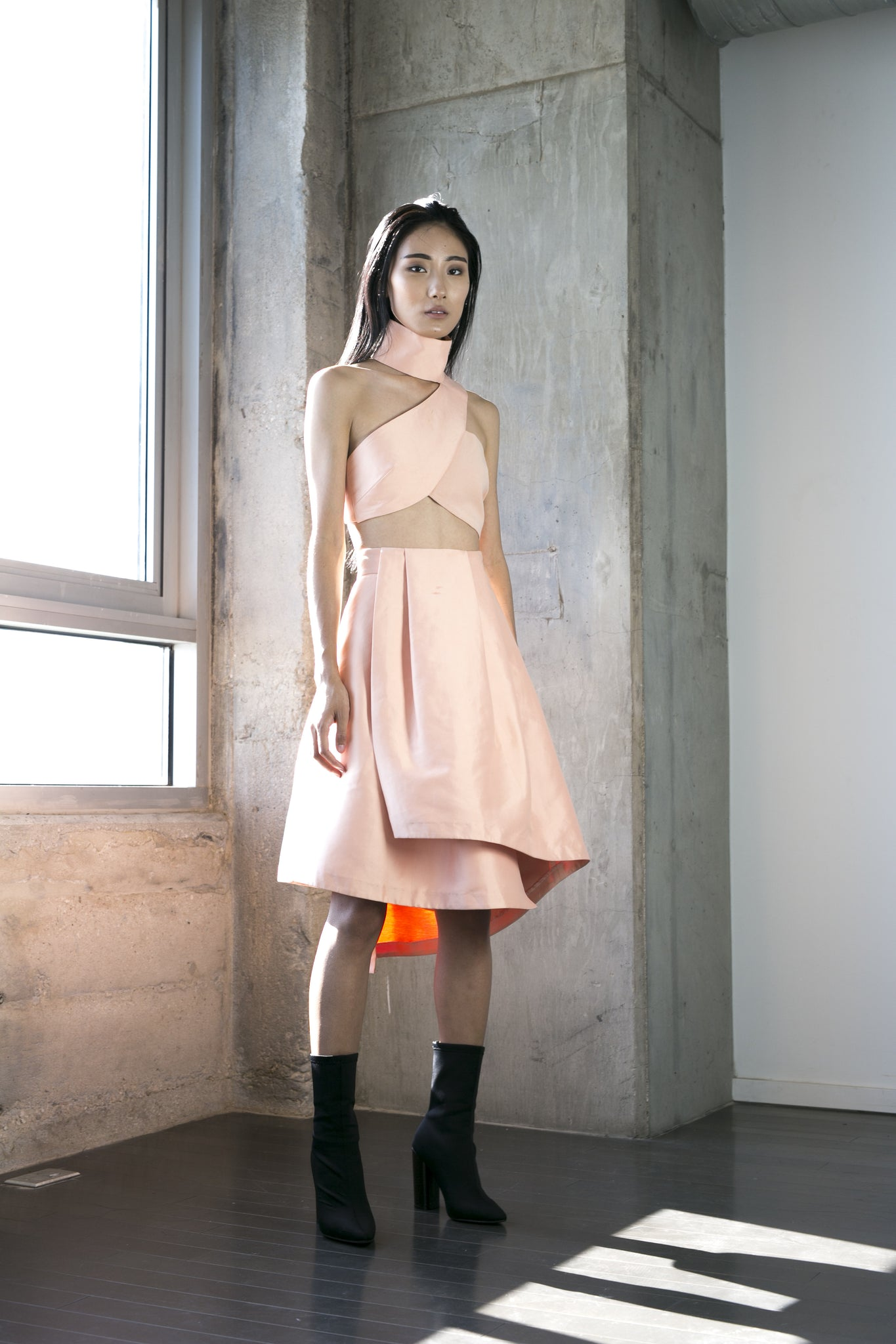 Kiok Skirt in Peach