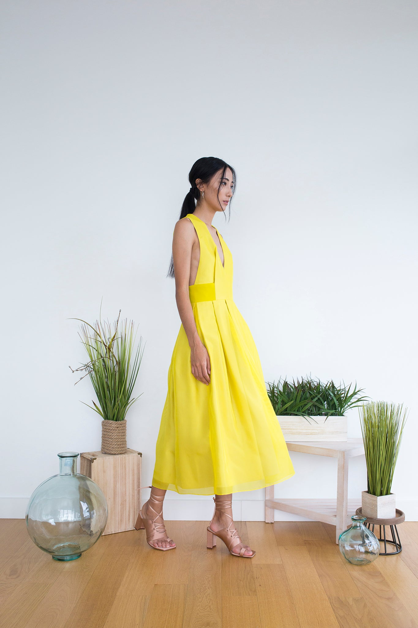 Alkurdi Dress in Citrine