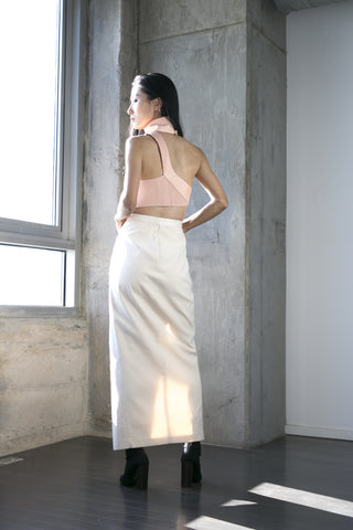 Olivia Midi Skirt in Cream