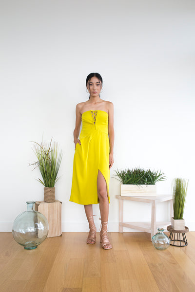 Galloro Dress in Citrine