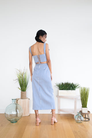 Colleen Top in Pastel Stripe