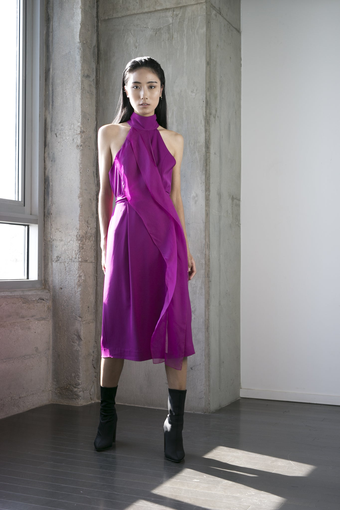 SALE | Shelly Dress in Fuchsia