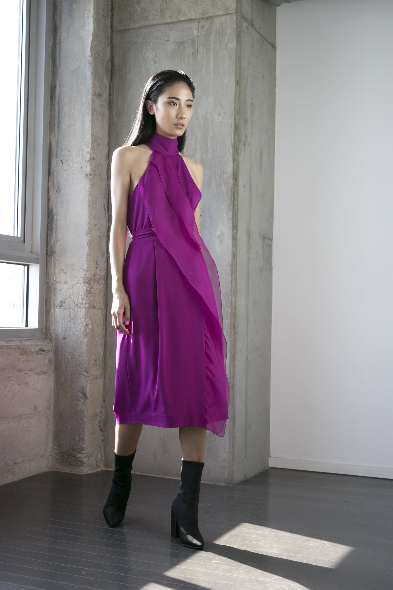 Shelly Dress in Fuchsia