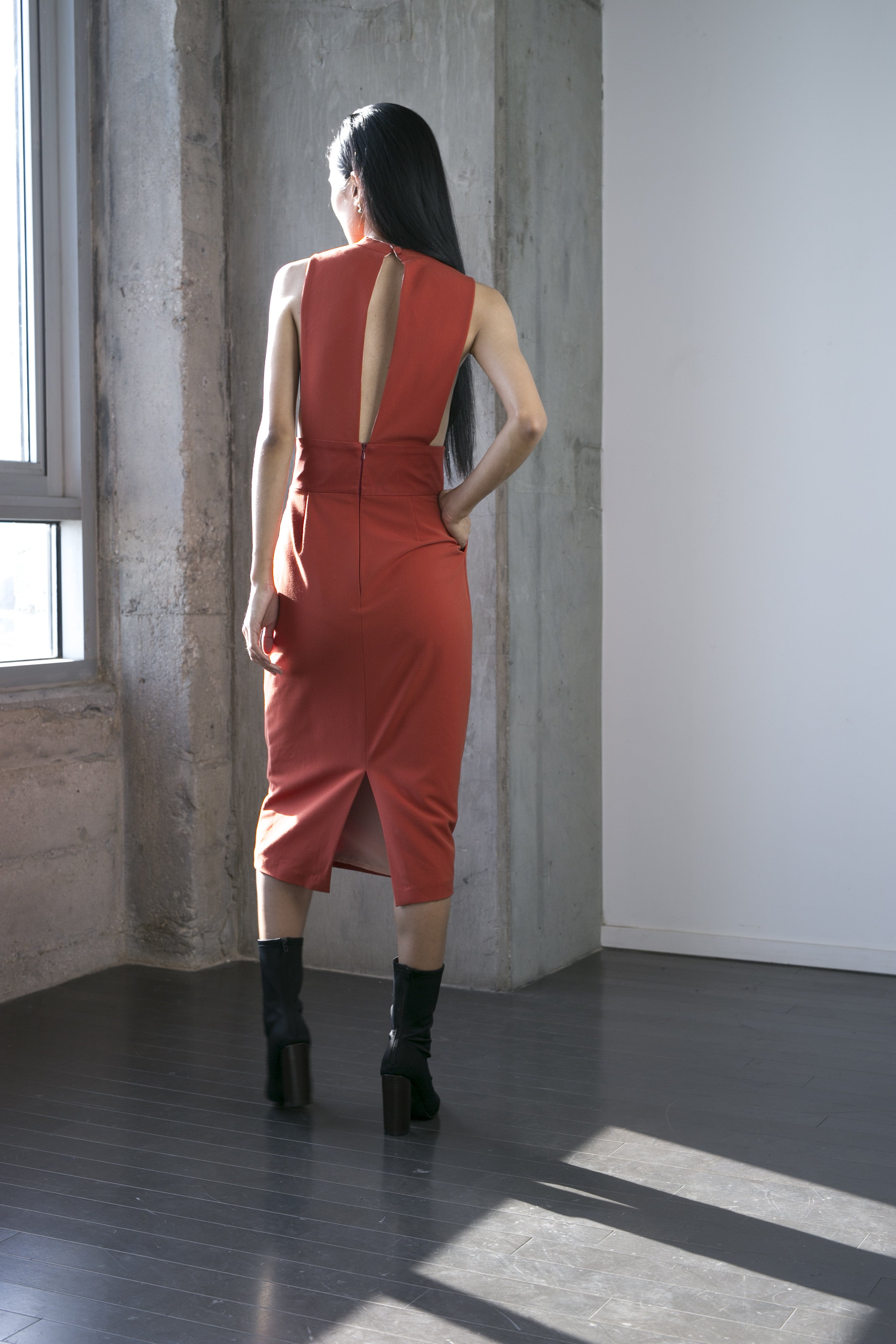 Zain Dress in Rust