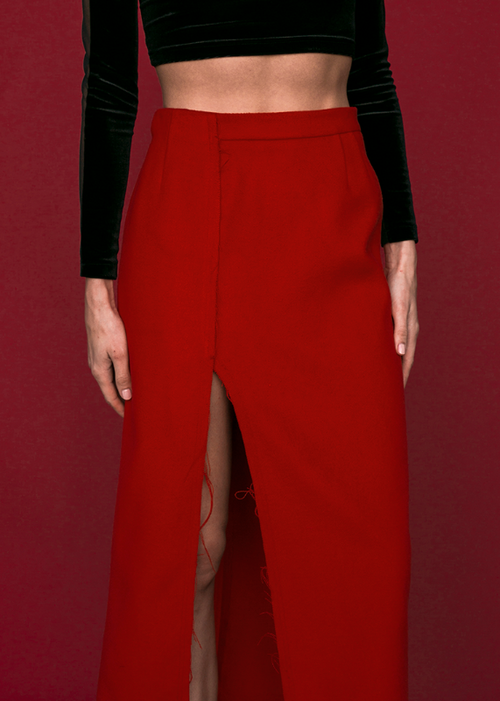 Alina Skirt in Red