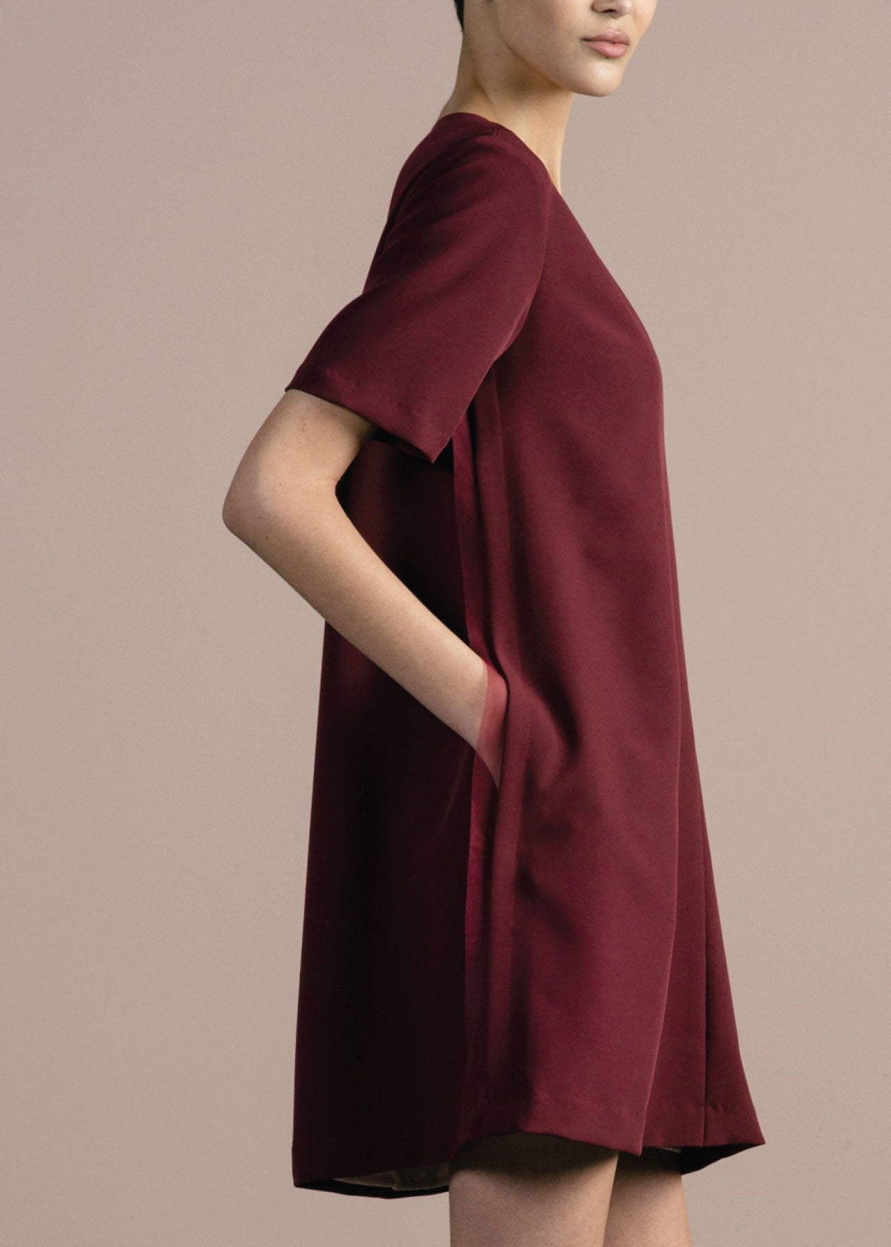 Bardo Dress in Merlot