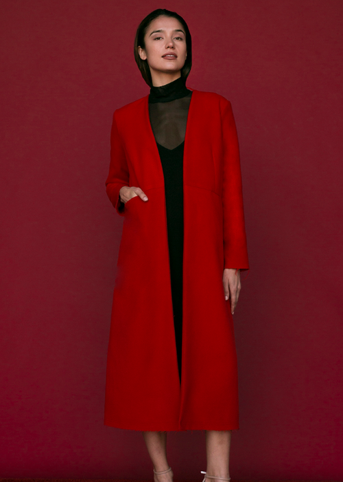 Cuttrell Coat in Red