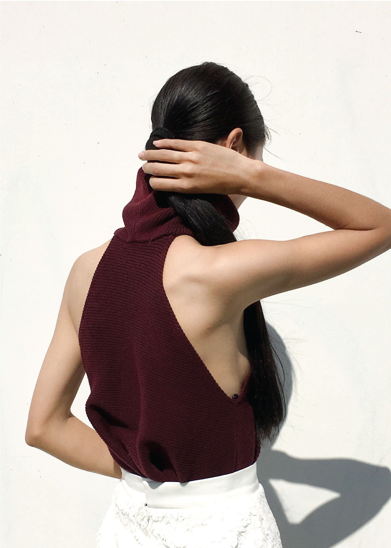 Genevieve Top in Merlot