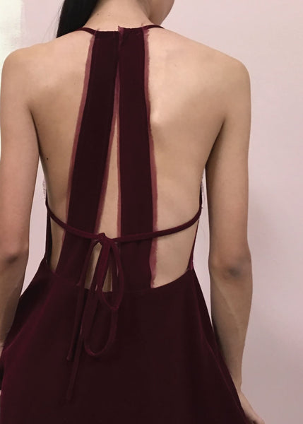 Magda Dress in Merlot