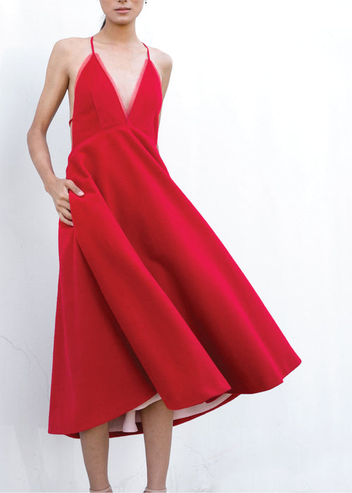 Magda Dress in Red