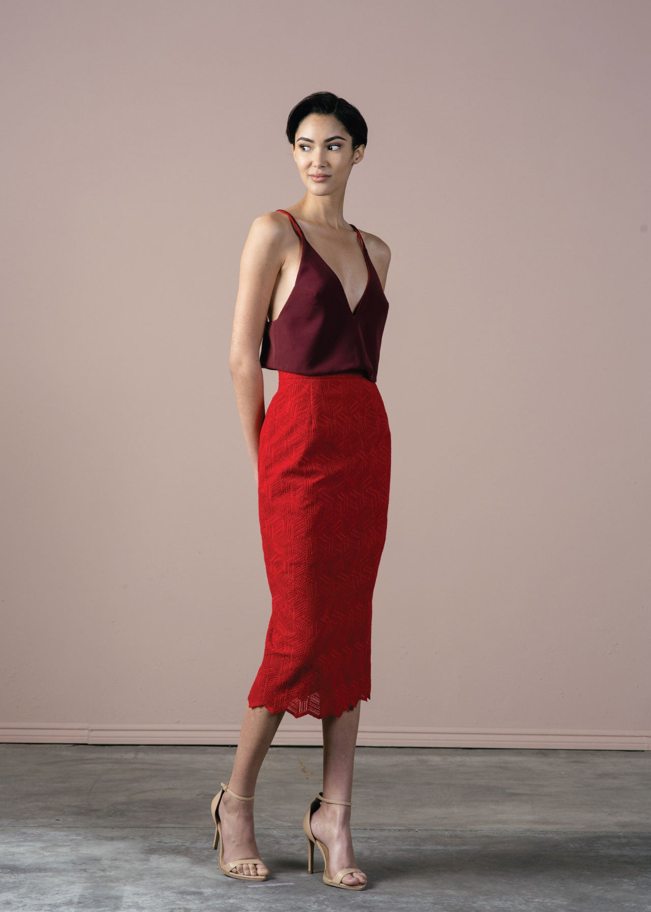 SALE | Sammie Skirt in Red