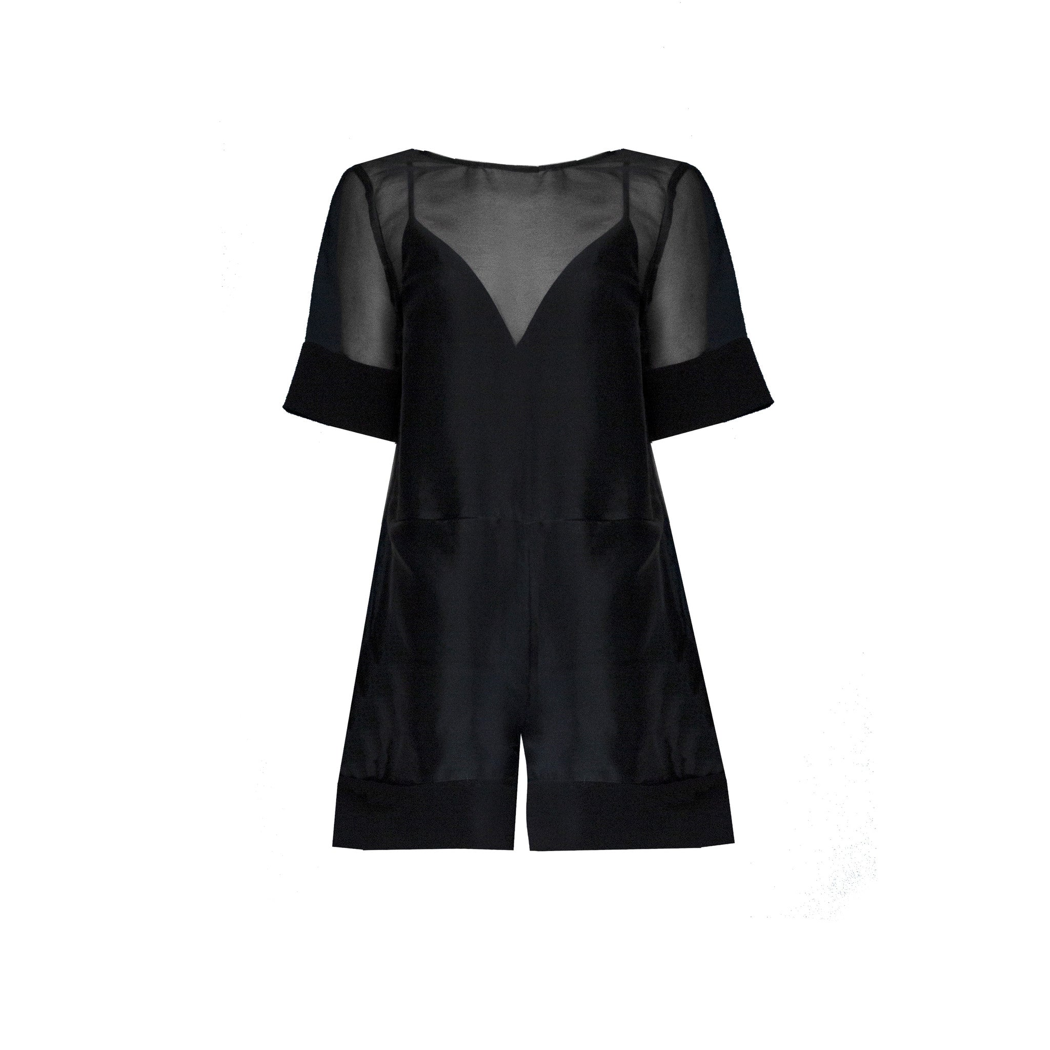 SALE | Sarah Romper in Black