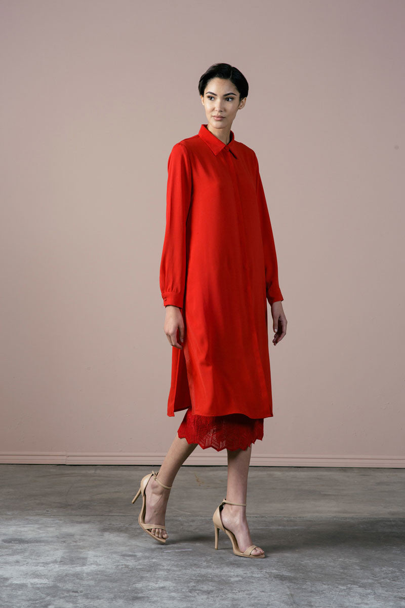 Roman Dress in Red