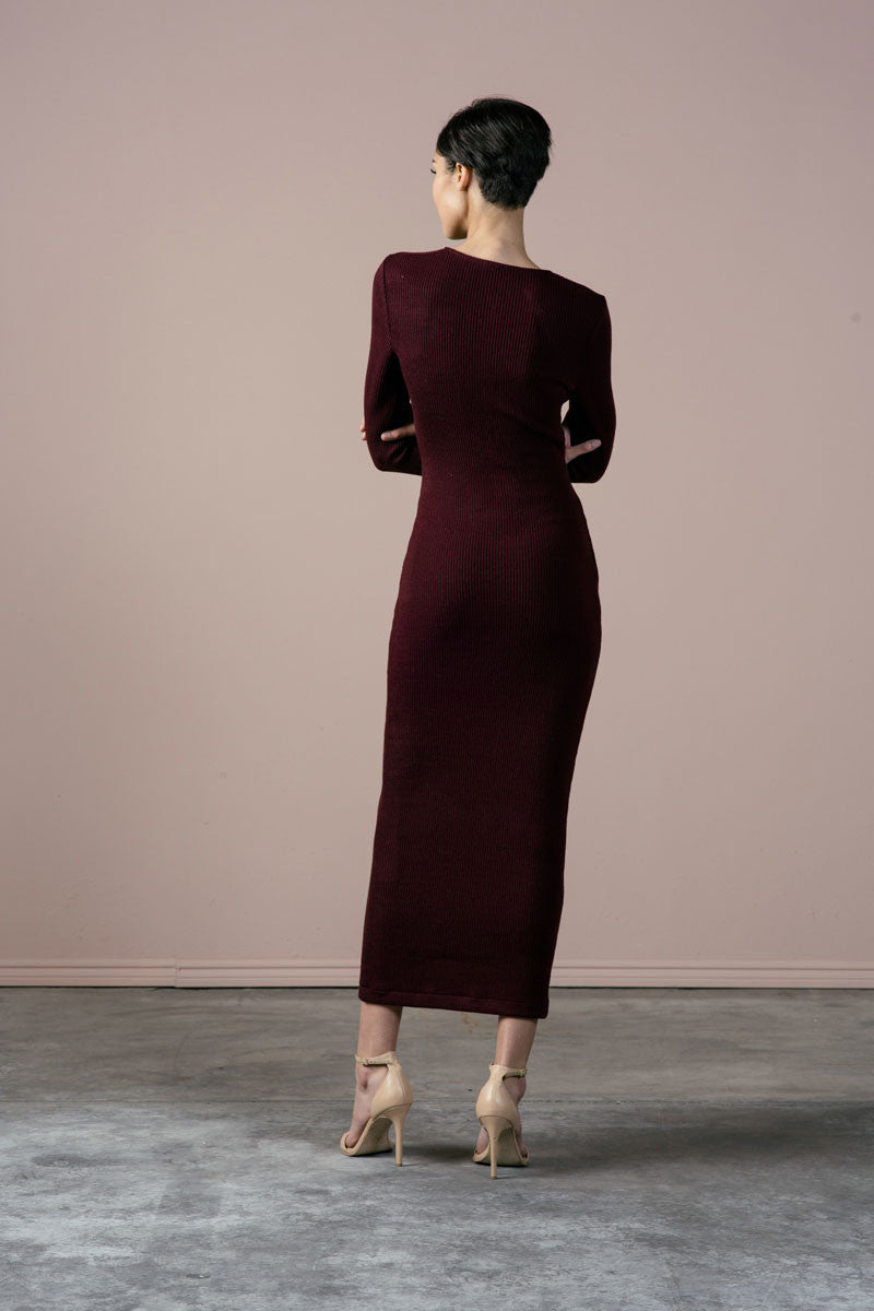 Hewitt Dress in Merlot