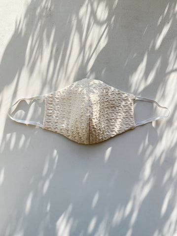 Beige Gingham Mask Design 2 - New Arrivals