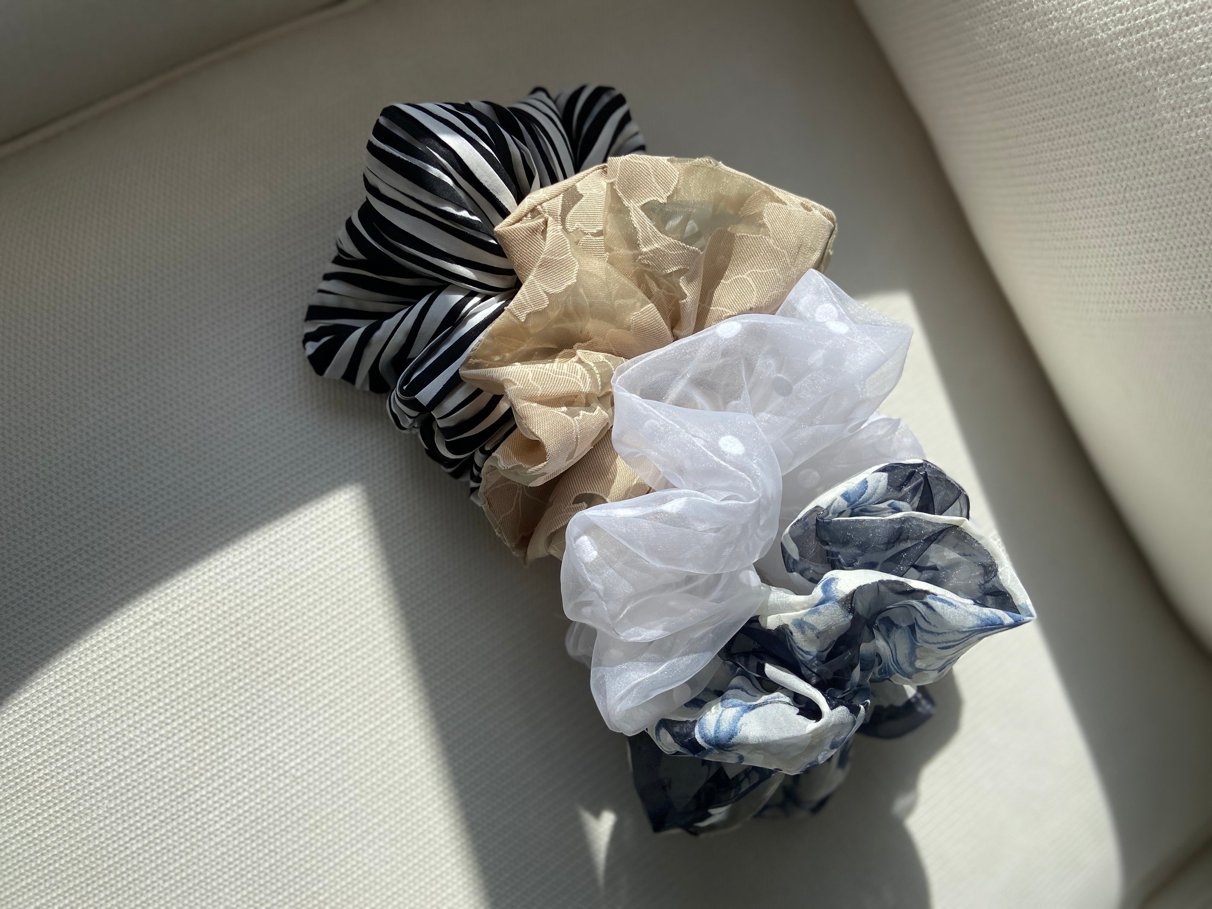 Hair & Sleeves Decorative Scrunchies
