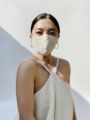 Beige Cotton Mask Design 2