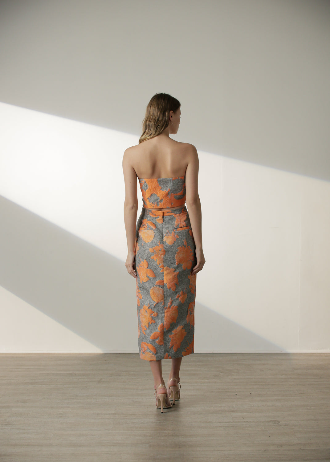 Mary Skirt in Orange Floral