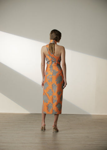 Olga Dress in Orange Floral