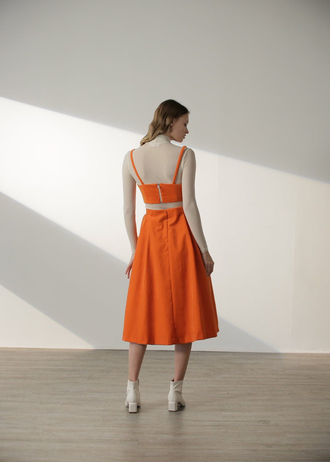 Cleo Skirt in Orange