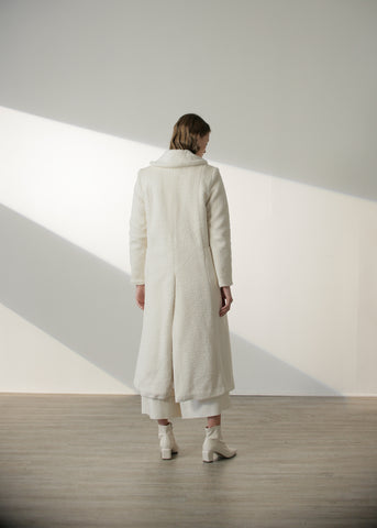 Hardwicke Coat in Pearl White