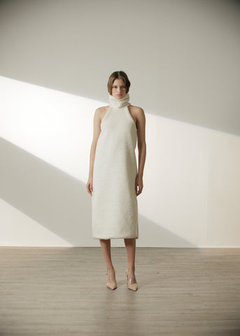 Maran Dress in Pearl White
