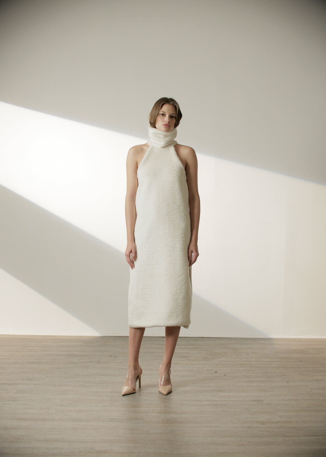 Paley Dress in Pearl White