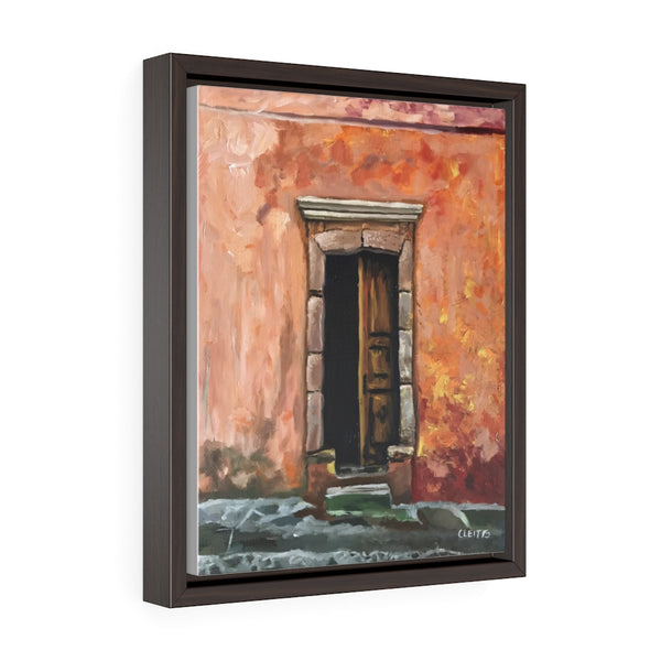 Street Doorway - framed painting printed on canvas