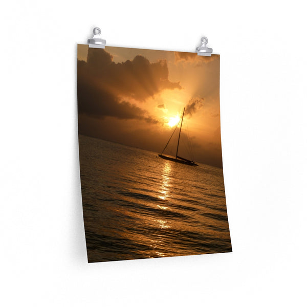 Sailboat Sunset -  photo poster