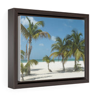 Beach Palms - framed photo printed on canvas
