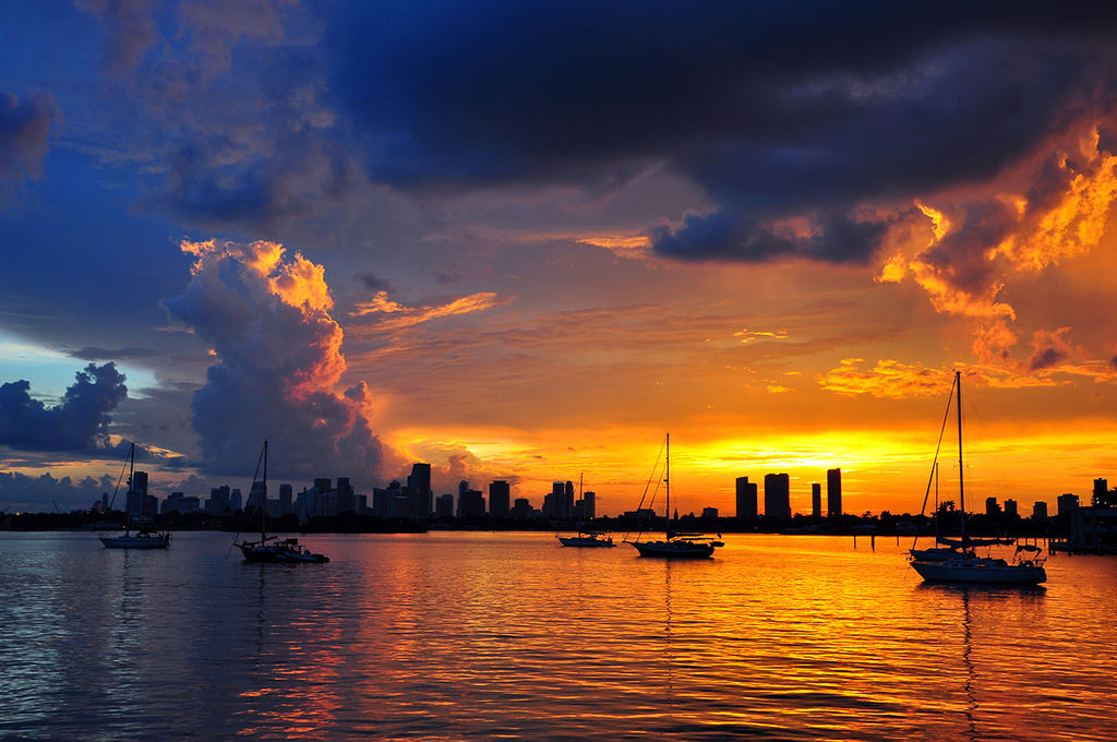 Storm clouds over Biscayne Bay