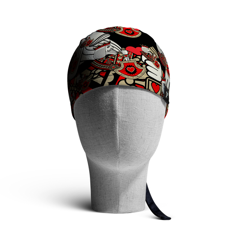 WooCaps King of Hearts Skull Cap Front