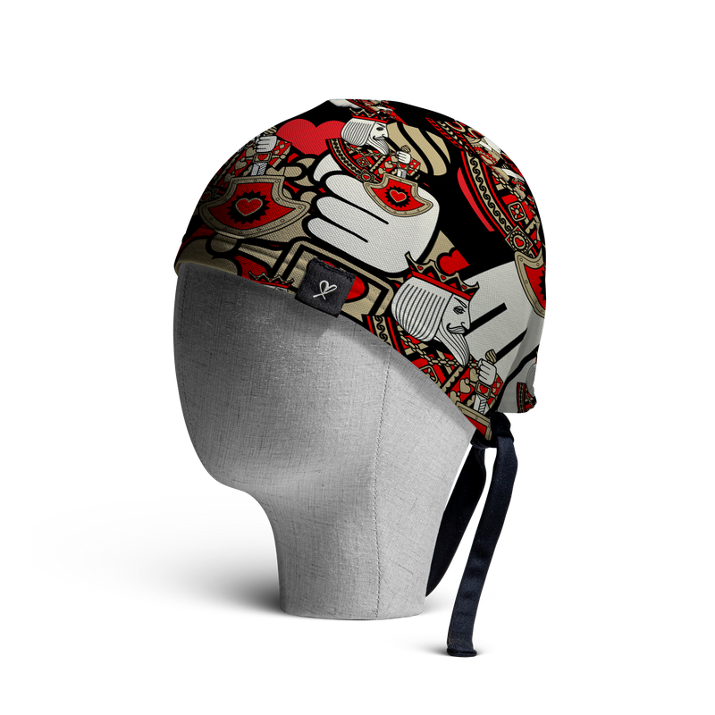 WooCaps King of Hearts Skull Cap Side