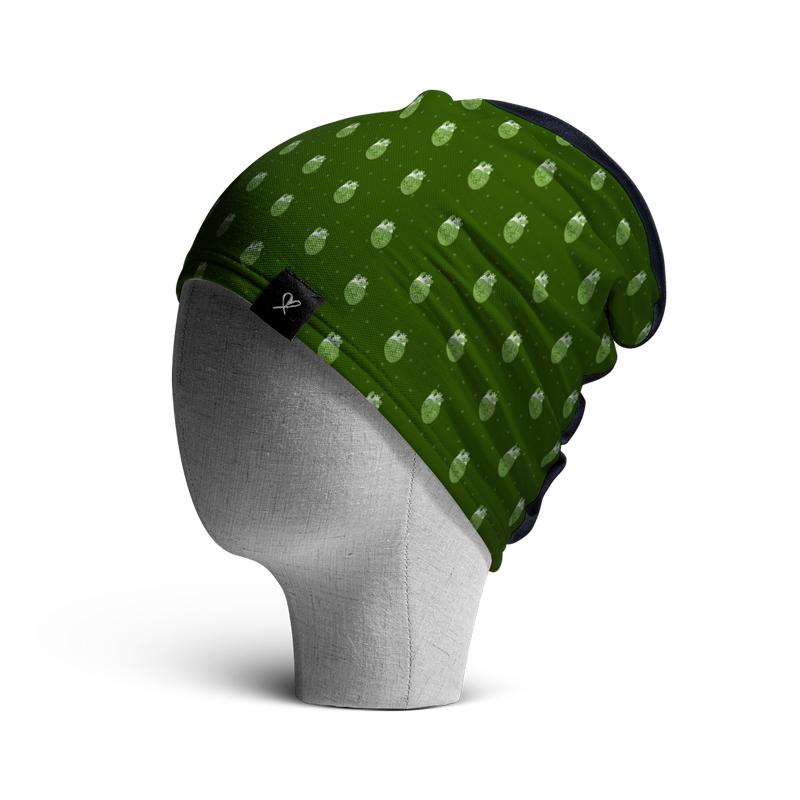 WooCaps 8-Bit Loose Beanie Side View