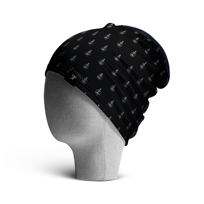 WooCaps Yoga Class Loose Beanie Side View