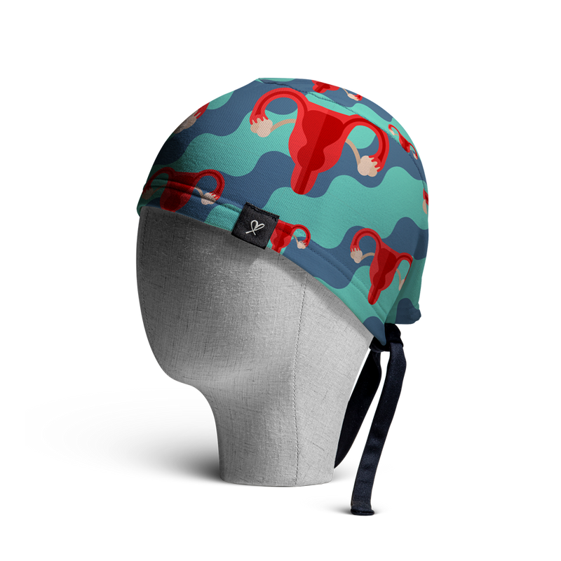 WooCaps Bilateral Scrub Cap Side View