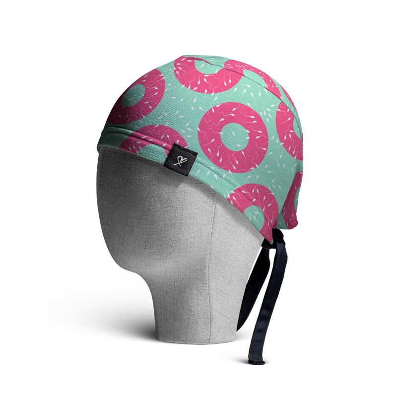 WooCaps Donuts Scrub Cap Side View