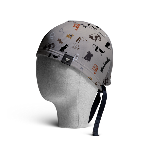 WooCaps Friends Scrub Cap Side View