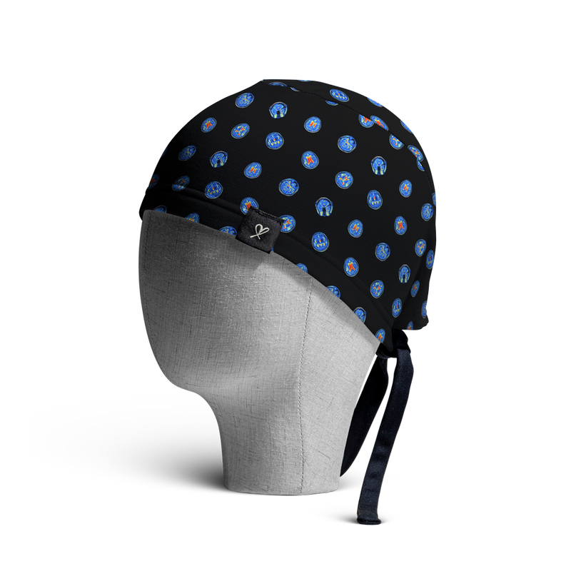 WooCaps MRI Scrub Cap Side View