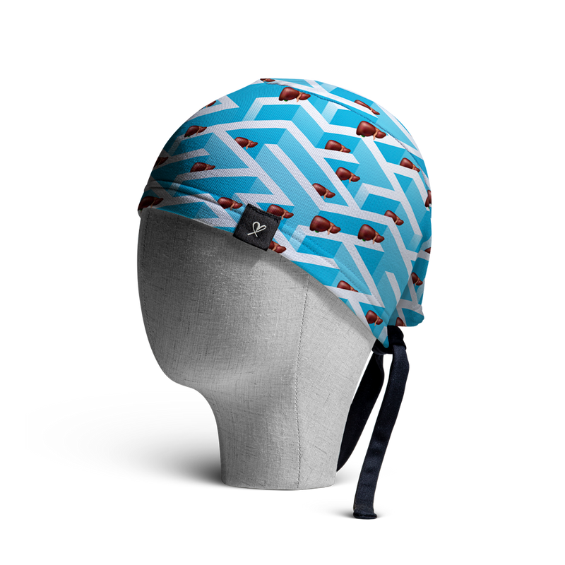 WooCaps Perspective Scrub Cap Side View
